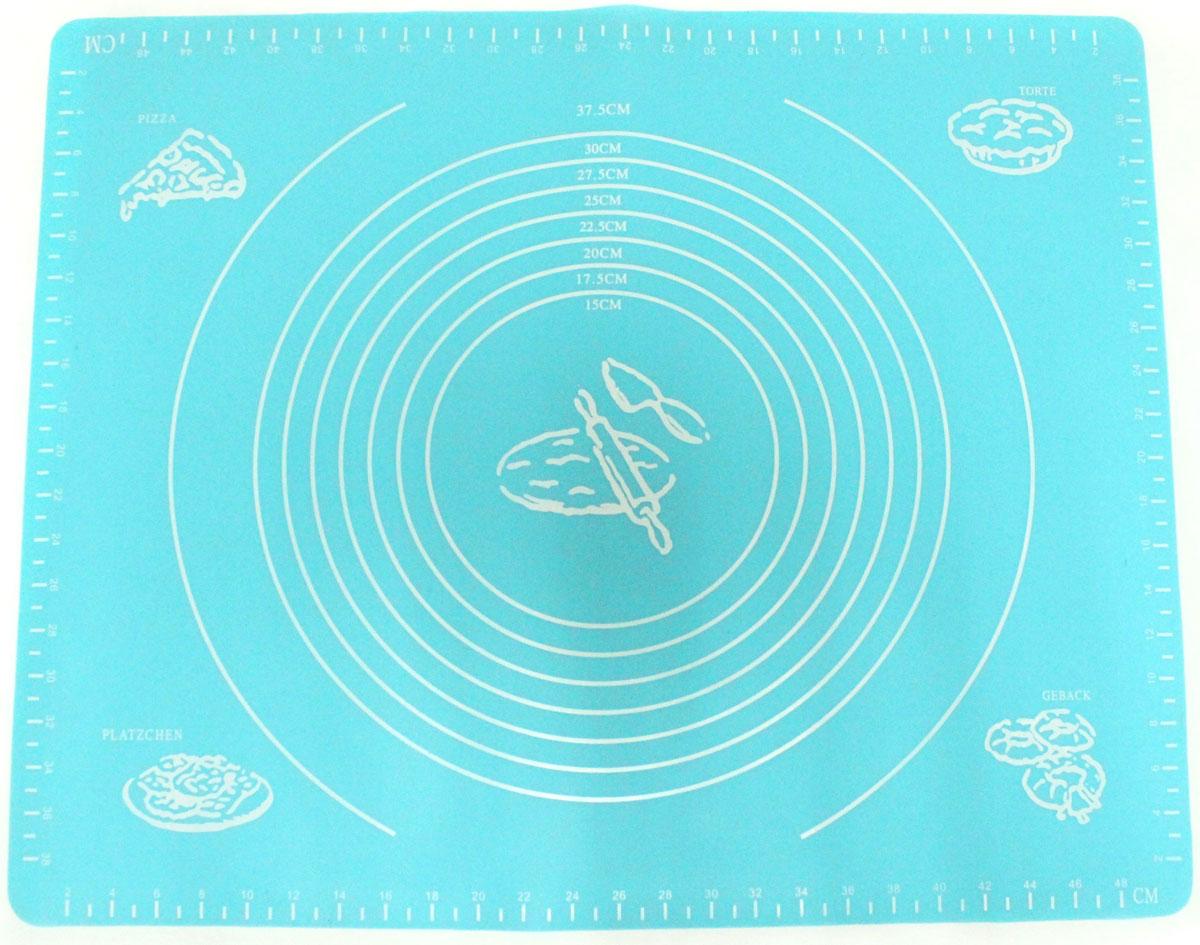 Коврик для выпечки Domodin, цвет: бирюзовый, 40 х 50 см28.75.38_сиреневыйКоврик для выпечки изготовлен из силикона, поэтому легко гнется и выдерживает температуру до +230 °С. Предназначен для гигиеничного приготовления любой выпечки из теста. Коврик оснащен мерной шкалой по краям и круглым шаблоном для теста. Раскатывая тесто на таком коврике, вы всегда сможете придать ему нужный размер. Кроме того, тесто не прилипает. Коврик очень удобный и облегчит приготовление теста.