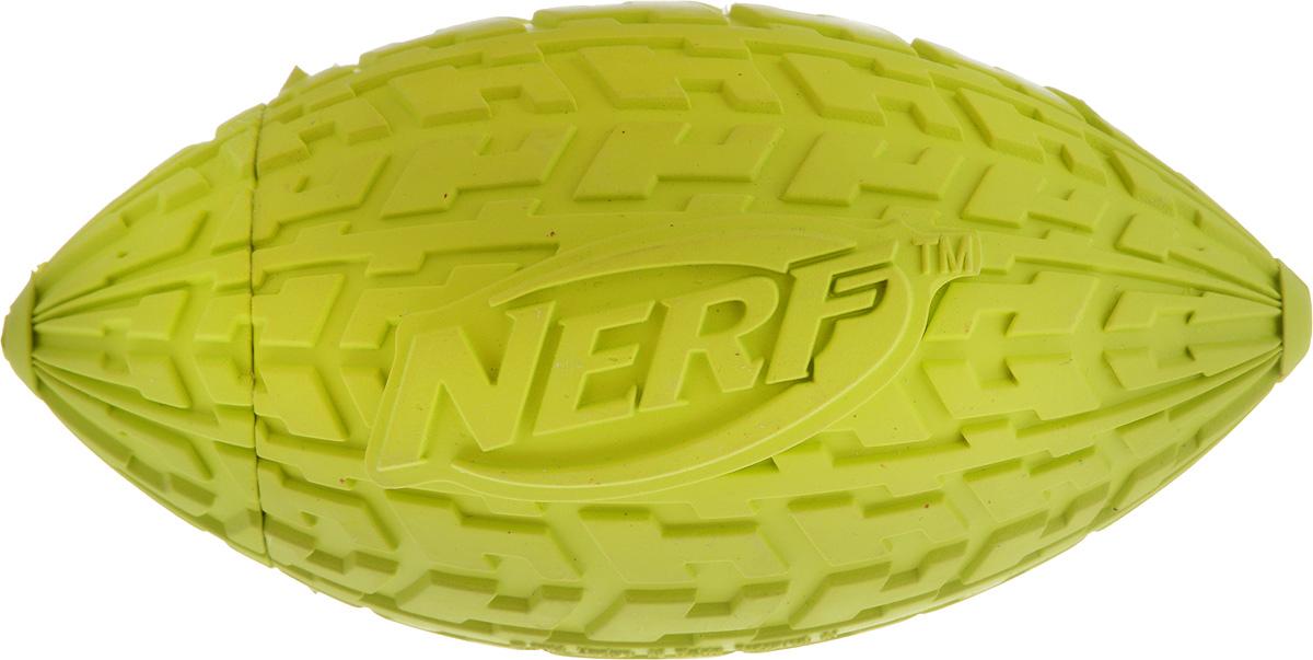 Игрушка для собак Nerf Шина. Мяч для регби, с пищалкой, длина 10 см30748_красныйИгрушка для собак Nerf Шина. Мяч для регби выполнена из резины в форме мяча для регби с уникальным рисунком протектора шины. Игрушка оснащена пищалкой, что вызовет дополнительный интерес вашего питомца. Такая игрушка порадует вашего любимца, а вам доставит массу приятных эмоций, ведь наблюдать за игрой всегда интересно и приятно. Размер игрушки: 5 х 5 х 10 см.
