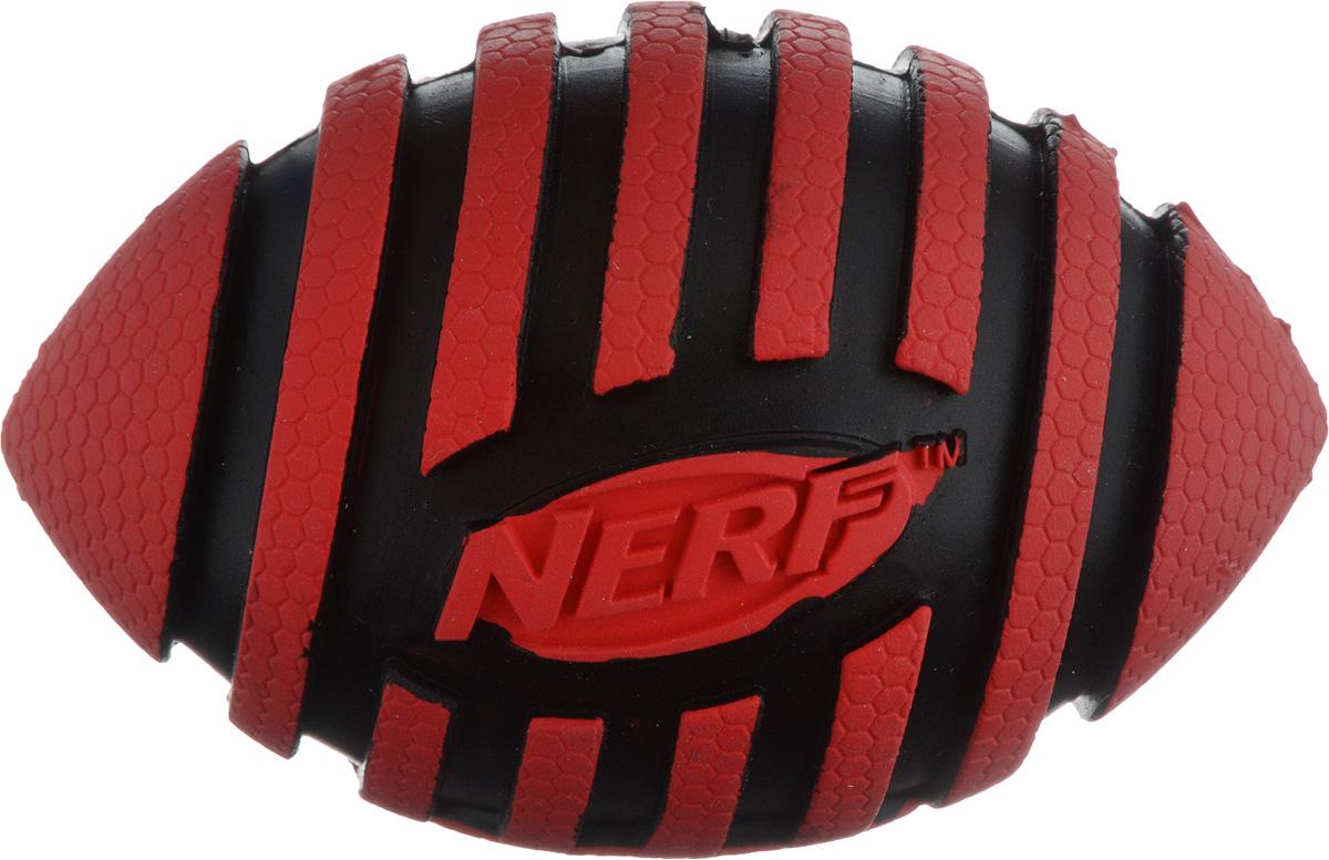 Игрушка для собак Nerf Мяч для регби, с пищалкой, длина 9 см75343Игрушка для собак Nerf Мяч для регби выполнена из резины в форме мяча для регби. Игрушка оснащена пищалкой, что вызовет дополнительный интерес вашего питомца. Такая игрушка порадует вашего любимца, а вам доставит массу приятных эмоций, ведь наблюдать за игрой всегда интересно и приятно. Размер игрушки: 5,5 х 5,5 х 9 см.
