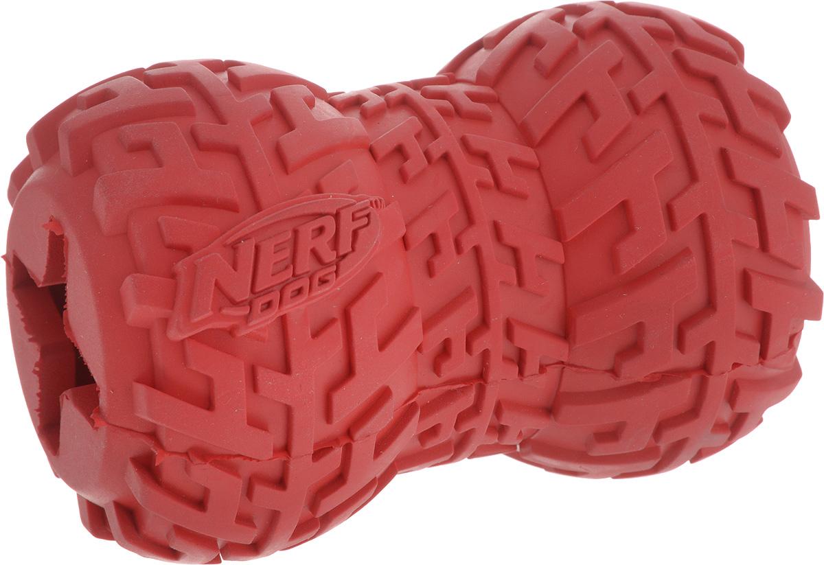 Игрушка-кормушка для собак Nerf Шина, цвет: красный, длина 10 см18654Игрушка-кормушка для собак Nerf Шина изготовлена из сверхпрочной резины, что обеспечивает долговечность использования. Игрушка имеет уникальный рисунок протектора шины. Полость внутри игрушки предназначена для любимого лакомства вашего питомца. Подходит для собак с самой мощной челюстью.Размеры игрушки: 10 х 7 х 7 см.