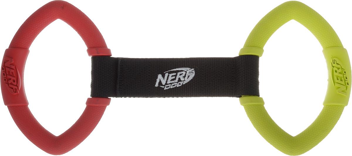 Игрушка для собак Nerf Кольца резиновые, с нейлоновой перемычкой, цвет: красный, салатовый, длина 32,5 см0120710Игрушка для собак Nerf Кольца резиновые изготовлена из сверхпрочной резины с нейлоновой перемычкой. Высококачественные прочные материалы, из которых изготовлена игрушка, обеспечивают долговечность использования. Подходит для собак с самой мощной челюстью. Оптимальна для перетягивания, подходит для игры двух собак.Размеры резинового элемента: 15 х 10,5 х 2,5 см.Общая длина игрушки: 32,5 см.