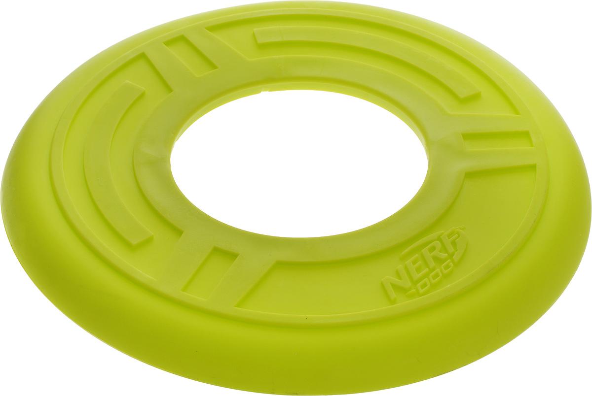 Игрушка для собак Nerf Диск для фрисби, цвет: салатовый, диаметр 25 см. 22392_салатовый12171996Игрушка для собак Nerf Диск для фрисби - это удивительный спортивный снаряд, с которым не придется скучать. Кроме великолепных летных качеств, диск безопасен для собачьих зубов и десен. Диск изготовлен из сверхпрочной резины, что обеспечивает долговечность использования.Диаметр игрушки: 25 см.