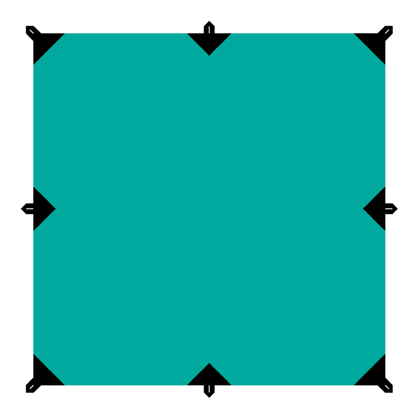 Тент Tramp, цвет: зеленый, 3 х 3 м9180.5401Универсальный квадратный тент Tramp предназначен для защиты от дождя и солнца. Использование высококачественного полиэстера делает тент прочным, легким и не впитывающим влагу. Тент имеет пропитку, защищающую от ультрафиолетового излучения. По периметру вшиты петли для фиксации тента на оттяжках. Углы тента усилены вставками из прочной ткани. Светоотражающие оттяжки с регуляторами длины и стальные колышки в комплекте. Тент упаковывается в чехол для транспортировки и хранения. Размер тента: 3 х 3 м.