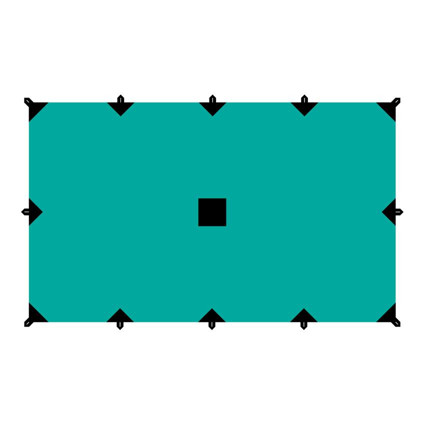 Тент Tramp, цвет: зеленый, 3 х 5 м67742Универсальный тент Tramp предназначен для защиты от дождя и солнца. Использование высококачественного полиэстера делает тент прочным, легким и не впитывающим влагу. Тент имеет пропитку, защищающую от ультрафиолетового излучения. По периметру вшиты петли для фиксации тента на оттяжках. Углы тента усилены вставками из прочной ткани. Светоотражающие оттяжки с регуляторами длины и стальные колышки в комплекте. Тент упаковывается в чехол для транспортировки и хранения. Размер тента: 3 х 5 м.