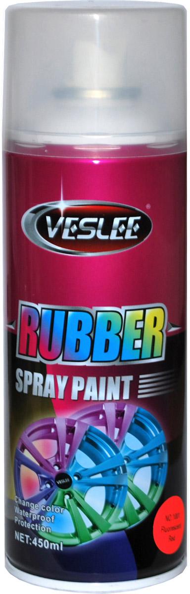 Аэрозольная краска Veslee, резиновая, флуоресцентная, цвет: a1001 красный, 450 гH003Представляет собой резиновое покрытие, которое после высыхания образует эластичную водоотталкивающую плёнку, защищающую по¬верхность от повреждений и коррозии. При необходимости просто снимается с поверхности как плёнка, не оставляя следов и не повреждая покрытие. Применяется для окраски автомобильных дисков и других предметов, которые нужно выделить с помощью цвета. Представлена в яркой флуоресцентной цветовой гамме, а также в золотом, прозрачном и матовых вариантах.Резиновая краска — это новый сверхудобный материал широкого применения. Благодаря своим свойствам отлично подходит для:— тюнинга автомобилей мотоциклов и других средств передвижения;— может применяться в интерьере жилых помещений;— гидроизолирует всё, на что наносится;— приятна на ощупь и при особом нанесении можно получить красивую фактуру, что незаменимо для аксессуаров (брелки, телефоны, украшения, флешки и многое другое). Применение ограничивается лишь вашей фантазией.