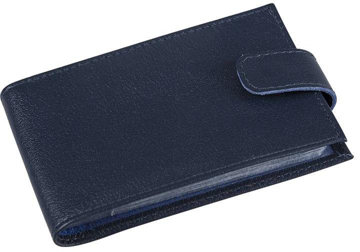 Визитница мужская Befler Грейд, цвет: темно-синий. V.31.-9BM8434-58AEВизитница из коллекции «Грейд» выполнена из натуральной кожи и оформлена тиснением с названием бренда. На внутреннем развороте 2 кармана из прозрачного пластика. Внутренний блок на 40 визитных и 20 кредитных карт.