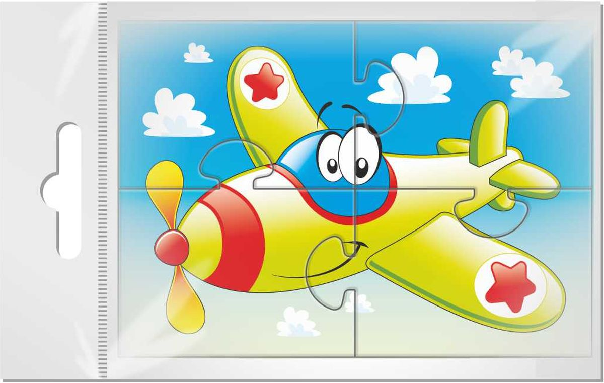 Издательская группа Квадра Пазл для малышей Самолетик