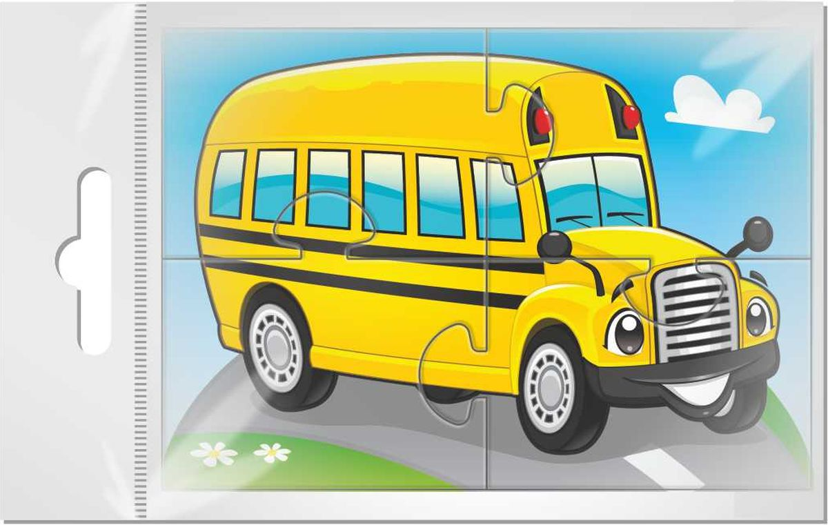 Издательская группа Квадра Пазл для малышей Желтый автобус