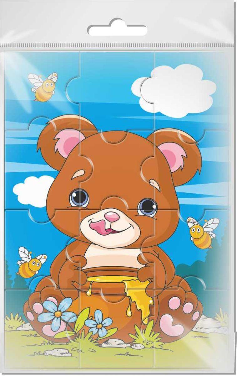 Издательская группа Квадра Пазл для малышей Медвежонок матвеева е вместе весело играть январь старшая группа книга пазл