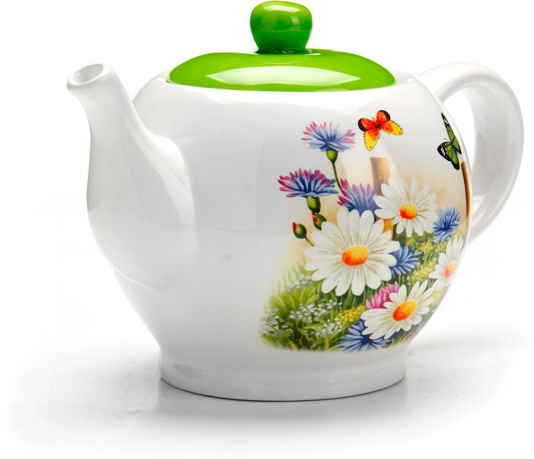 Заварочный чайник Loraine Лето, 950 мл68/5/3Заварочный чайник с крышкой Loraine поможет вам в приготовлении вкусного и ароматного чая, а также станет украшением вашей кухни. Он изготовлен из доломитовой керамики и оформлен красочным изображением. Нежный рисунок придает чайнику особый шарм, чайник удобен в использовании и понравится каждому.Такой заварочный чайник станет приятным и практичным подарком на любой праздник.Подходит для мытья в посудомоечной машине.