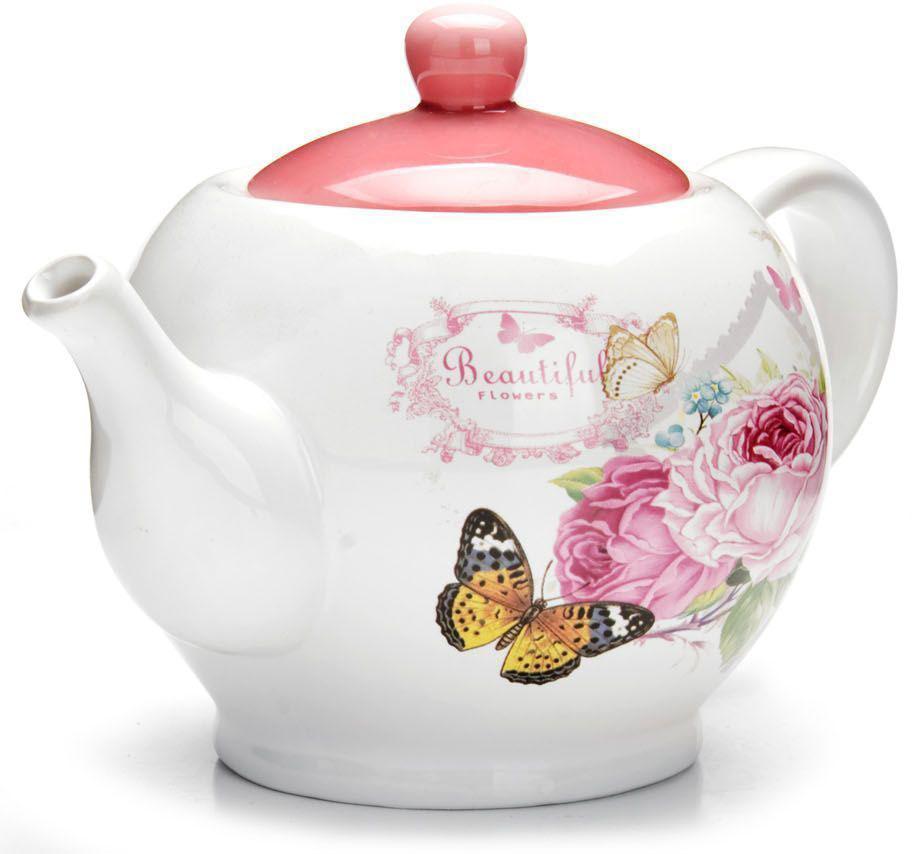 Заварочный чайник Loraine Батерфляй, 950 мл26313Заварочный чайник с крышкой Loraine поможет вам в приготовлении вкусного и ароматного чая, а также станет украшением вашей кухни. Он изготовлен из доломитовой керамики и оформлен красочным изображением. Нежный рисунок придает чайнику особый шарм, чайник удобен в использовании и понравится каждому.Такой заварочный чайник станет приятным и практичным подарком на любой праздник.Подходит для мытья в посудомоечной машине.