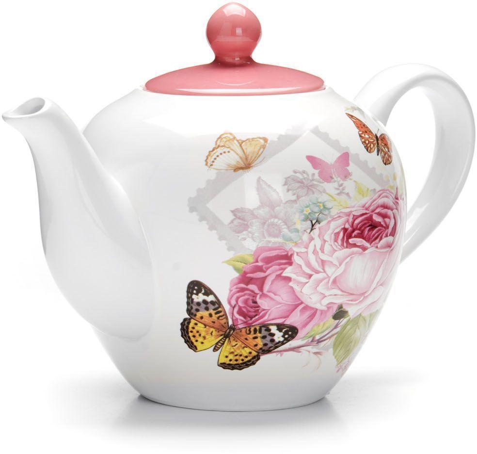 Заварочный чайник Loraine Батерфляй, 1,2 л26296Заварочный чайник с крышкой Loraine поможет вам в приготовлении вкусного и ароматного чая, а также станет украшением вашей кухни. Он изготовлен из доломитовой керамики и оформлен красочным изображением. Нежный рисунок придает чайнику особый шарм, чайник удобен в использовании и понравится каждому.Такой заварочный чайник станет приятным и практичным подарком на любой праздник.Подходит для мытья в посудомоечной машине.