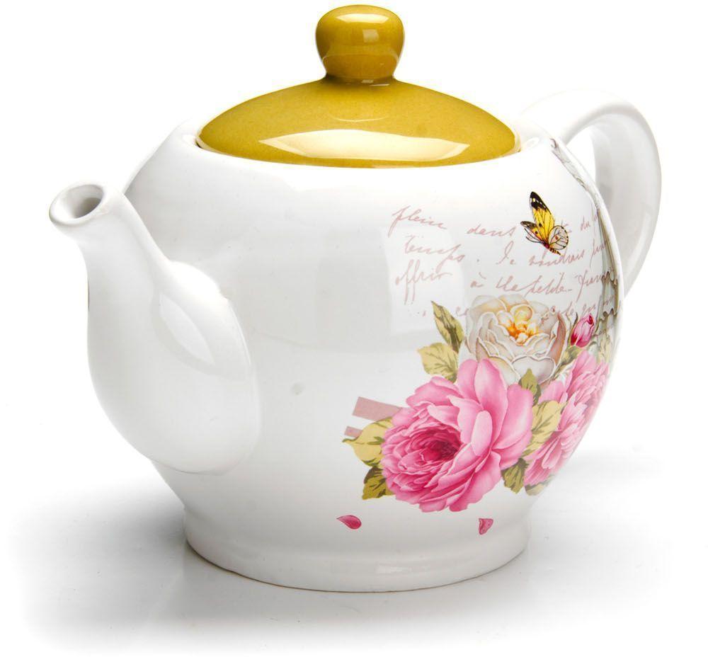 Заварочный чайник Loraine Пионы, 950 мл. 2633054 009312Заварочный чайник с крышкой поможет вам в приготовлении вкусного и ароматного чая, а также станет украшением вашей кухни. Он изготовлен из доломитовой керамики в красивых тонах и оформлен красочным изображением. Нежный рисунок придает чайнику особый шарм, чайник удобен в использовании и понравится каждому. Такой заварочный чайник станет приятным и практичным подарком на любой праздник. Подходит для мытья в посудомоечной машине.