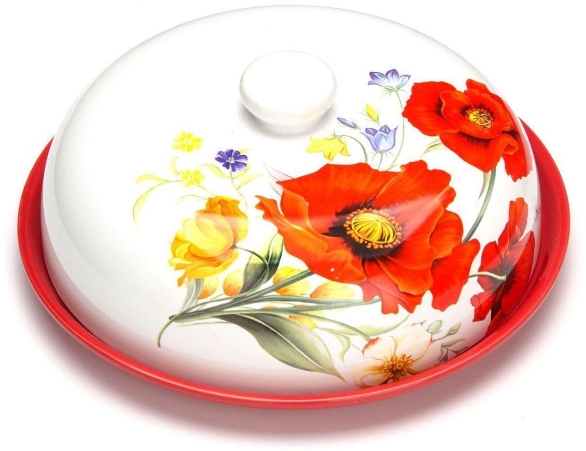 Блюдо для блинов Loraine Маки, 23,8 х 11 см115510Блюдо для блинов Loraine изготовлено из доломитовой керамики высокого качества и украшено красивым рисунком. Изделие оснащено крышкой и предназначено для сохранения температуры блинов перед подачей на стол.Такое блюдо понравится любителям яркого оригинального дизайна и станет неотъемлемым атрибутом.Блюдо упаковано в индивидуальную коробку.Подходит для мытья в посудомоечной машине.