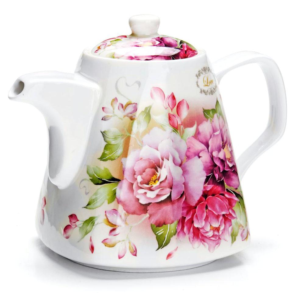 Заварочный чайник Loraine Цветы, 1,1 л. 26545391602Заварочный чайник Loraine изготовлен из высококачественной керамики. Посуда из данного материала позволяет максимально сохранить полезные свойства и вкусовые качества воды.Украшенные изящным рисунком стенки чайника, придают ему эстетичности на столе. Чайник изысканно украсит стол к чаепитию и порадует вас классическим дизайном и качеством исполнения. Не использовать в микроволновой печи. Не применять абразивные моющие средства.