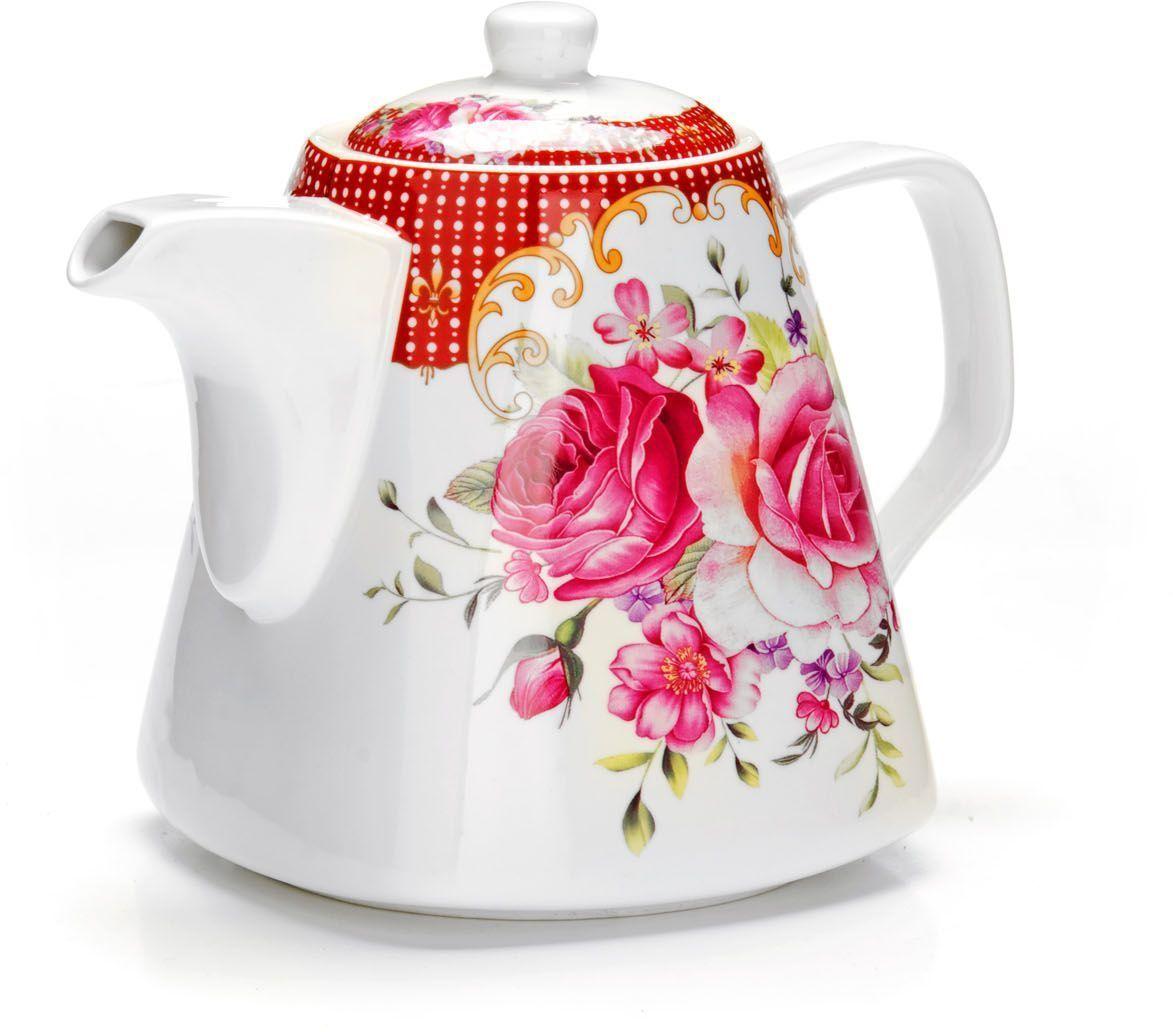 Заварочный чайник Loraine Цветы, 1,1 л. 26546391602Заварочный чайник Loraine изготовлен из высококачественной керамики. Посуда из данного материала позволяет максимально сохранить полезные свойства и вкусовые качества воды.Украшенные изящным рисунком стенки чайника, придают ему эстетичности на столе. Чайник изысканно украсит стол к чаепитию и порадует вас классическим дизайном и качеством исполнения. Не использовать в микроволновой печи. Не применять абразивные моющие средства.