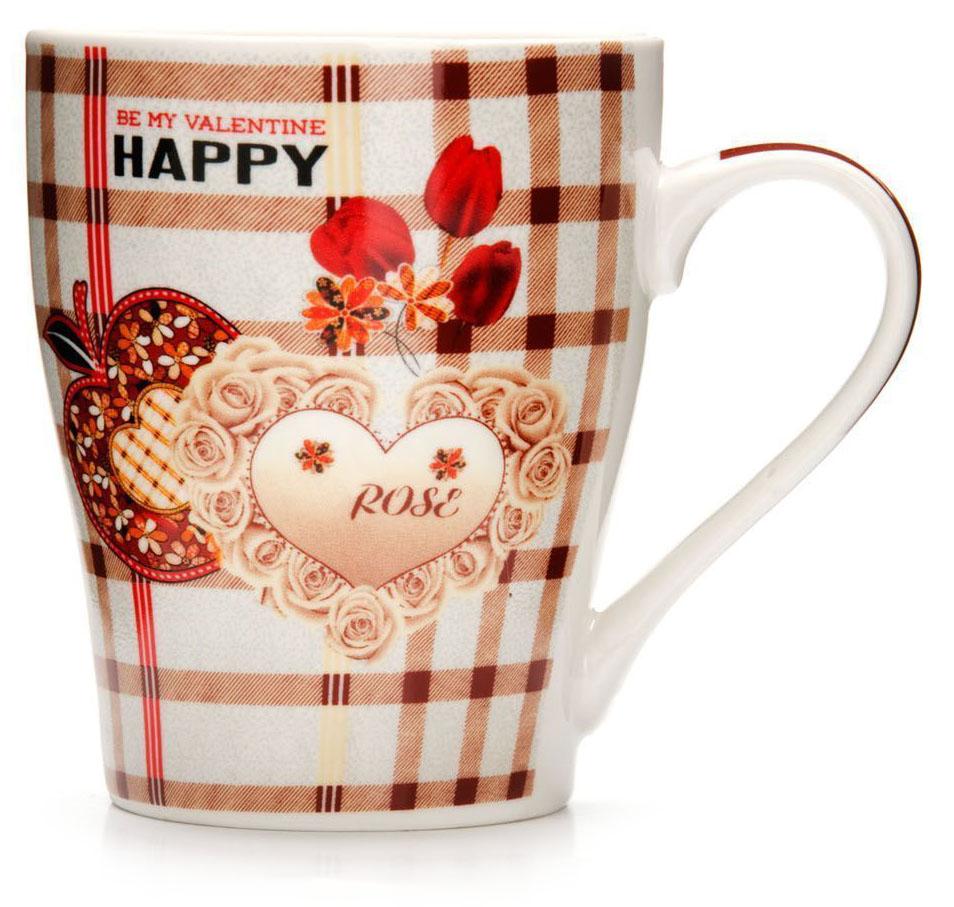 Кружка Loraine Любовь, 340 мл. 26574-2115510Кружка Loraine, выполненная из костяного фарфора и украшенная ярким рисунком, станет красивым и полезным подарком для ваших родных и близких. Дизайн изделия придется по вкусу и ценителям классики, и тем, кто предпочитает утонченность и изысканность.Кружка настроит на позитивный лад и подарит хорошее настроение с самого утра.Изделие пригодно для использования в микроволновой печи и холодильника.Подходит для мытья в посудомоечной машине.