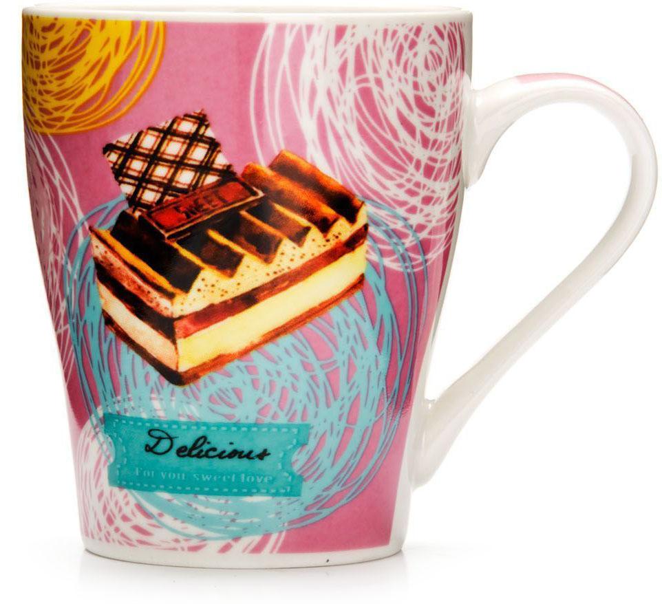 Кружка Loraine Десерт, 340 мл, подарочная упаковка. 26575-1115510Кружка Loraine, выполненная из костяного фарфора и украшенная ярким рисунком, станет красивым и полезным подарком для ваших родных и близких. Дизайн изделия придется по вкусу и ценителям классики, и тем, кто предпочитает утонченность и изысканность. Кружка Loraine настроит на позитивный лад и подарит хорошее настроение с самого утра. Изделие пригодно для использования в микроволновой печи и холодильника. Подходит для мытья в посудомоечной машине.