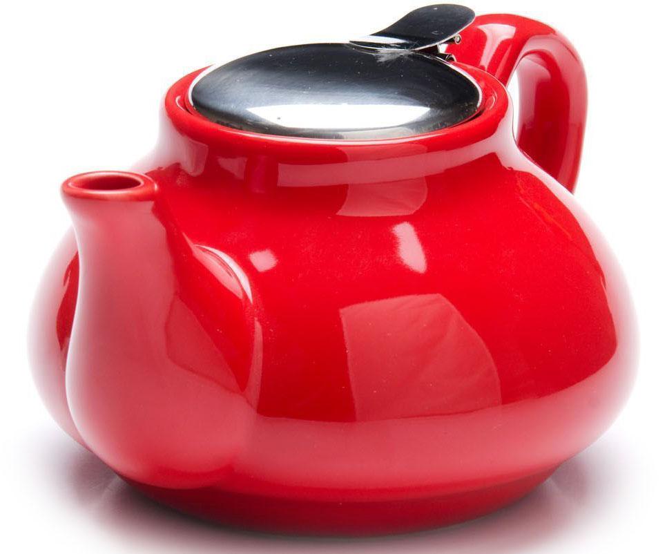 Заварочный чайник Loraine, цвет: красный, 750 мл. 26594-126813-2Заварочный чайник Loraine выполнен из высококачественной цветной керамики. Фильтр из нержавеющей стали для заваривания раскроет букет чая и не позволит чаинкам попасть в чашку. Удобная металлическая крышка поддержит нужную температуру для заваривания чая.Керамический чайник прост и удобен в применении, чайник легко мыть. Не ставьте чайник на открытый огонь и нагревающиеся поверхности.Подходит для мытья в посудомоечной машине.