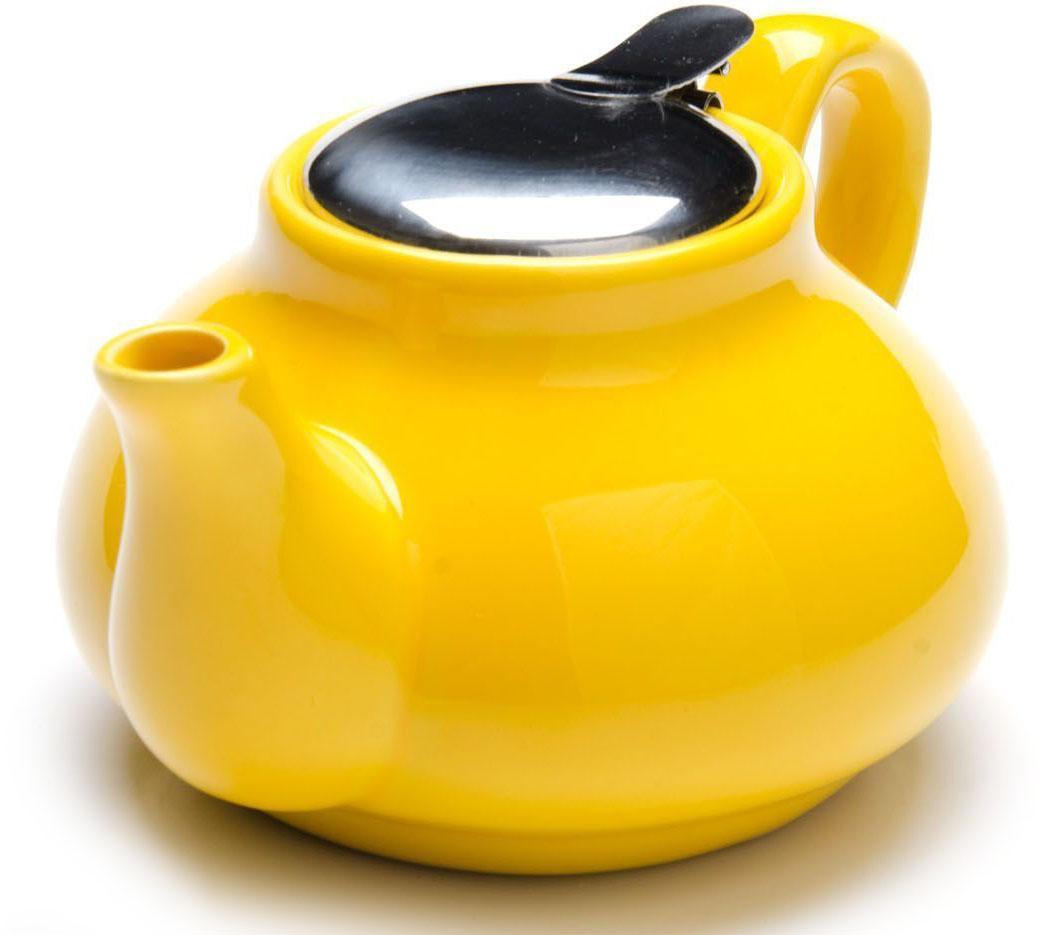 Заварочный чайник Loraine, цвет: желтый, 750 мл. 26594-2391602Заварочный чайник Loraine выполнен из высококачественной цветной керамики. Фильтр из нержавеющей стали для заваривания раскроет букет чая и не позволит чаинкам попасть в чашку. Удобная металлическая крышка поддержит нужную температуру для заваривания чая.Керамический чайник прост и удобен в применении, чайник легко мыть. Не ставьте чайник на открытый огонь и нагревающиеся поверхности.Подходит для мытья в посудомоечной машине.