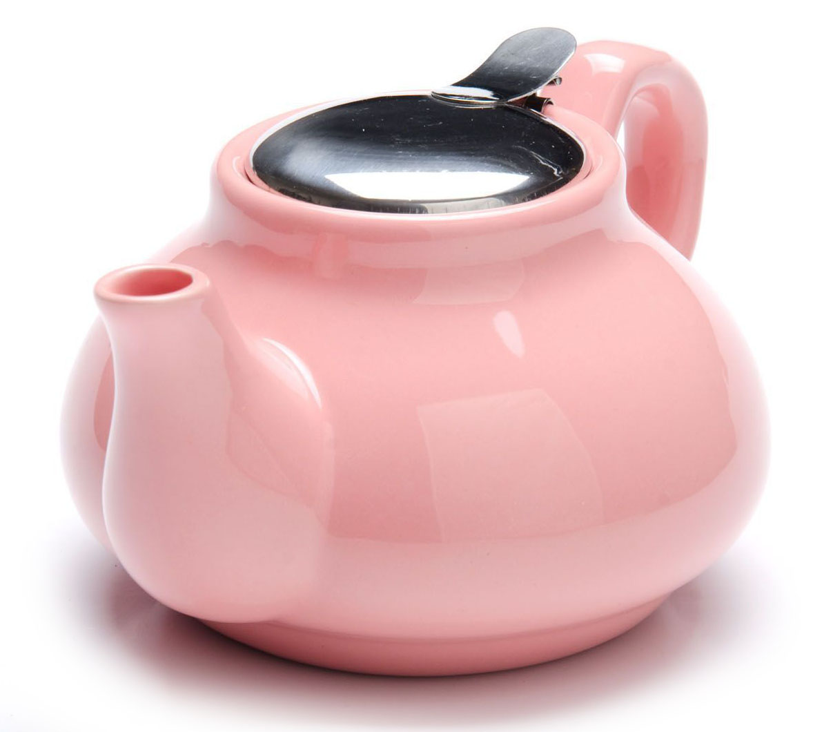 Заварочный чайник Loraine, цвет: розовый, 750 мл. 26594-31444504Заварочный чайник Loraine выполнен из высококачественной цветной керамики. Фильтр из нержавеющей стали для заваривания раскроет букет чая и не позволит чаинкам попасть в чашку. Удобная металлическая крышка поддержит нужную температуру для заваривания чая.Керамический чайник прост и удобен в применении, чайник легко мыть. Не ставьте чайник на открытый огонь и нагревающиеся поверхности.Подходит для мытья в посудомоечной машине.