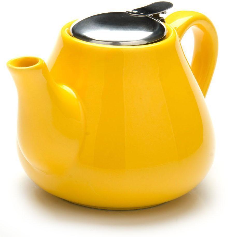 Заварочный чайник Loraine, цвет: желтый, 600 мл. 26595-226816-1Заварочный чайник Loraine выполнен из высококачественной цветной керамики. Фильтр из нержавеющей стали для заваривания раскроет букет чая и не позволит чаинкам попасть в чашку. Удобная металлическая крышка поддержит нужную температуру для заваривания чая.Керамический чайник прост и удобен в применении, чайник легко мыть. Не ставьте чайник на открытый огонь и нагревающиеся поверхности.Подходит для мытья в посудомоечной машине.