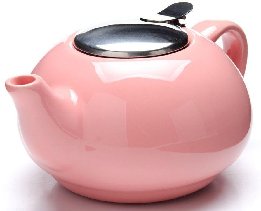 Заварочный чайник Loraine, цвет: розовый, 750 мл. 26596-326296Заварочный чайник Loraine выполнен из высококачественной цветной керамики. Фильтр из нержавеющей стали для заваривания раскроет букет чая и не позволит чаинкам попасть в чашку. Удобная металлическая крышка поддержит нужную температуру для заваривания чая.Керамический чайник прост и удобен в применении, чайник легко мыть. Не ставьте чайник на открытый огонь и нагревающиеся поверхности.Подходит для мытья в посудомоечной машине.