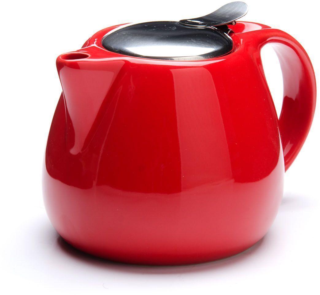 Заварочный чайник Loraine, цвет: красный, 750 мл. 26597-3391602Заварочный чайник Loraine выполнен из высококачественной цветной керамики. Фильтр из нержавеющей стали для заваривания раскроет букет чая и не позволит чаинкам попасть в чашку. Удобная металлическая крышка поддержит нужную температуру для заваривания чая.Керамический чайник прост и удобен в применении, чайник легко мыть. Не ставьте чайник на открытый огонь и нагревающиеся поверхности.Подходит для мытья в посудомоечной машине.