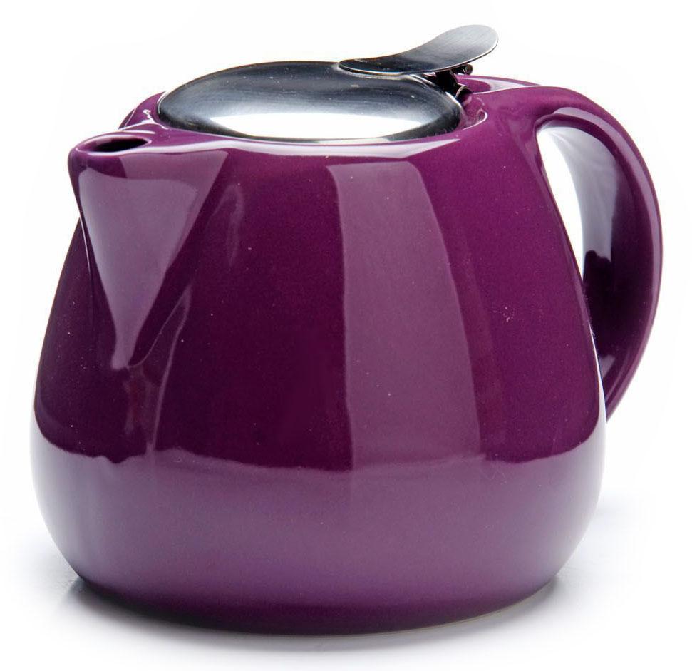 Заварочный чайник Loraine, цвет: фиолетовый, 750 мл. 26597391602Заварочный чайник Loraine выполнен из высококачественной цветной керамики. Фильтр из нержавеющей стали для заваривания раскроет букет чая и не позволит чаинкам попасть в чашку. Удобная металлическая крышка поддержит нужную температуру для заваривания чая.Керамический чайник прост и удобен в применении, чайник легко мыть. Не ставьте чайник на открытый огонь и нагревающиеся поверхности.Подходит для мытья в посудомоечной машине.