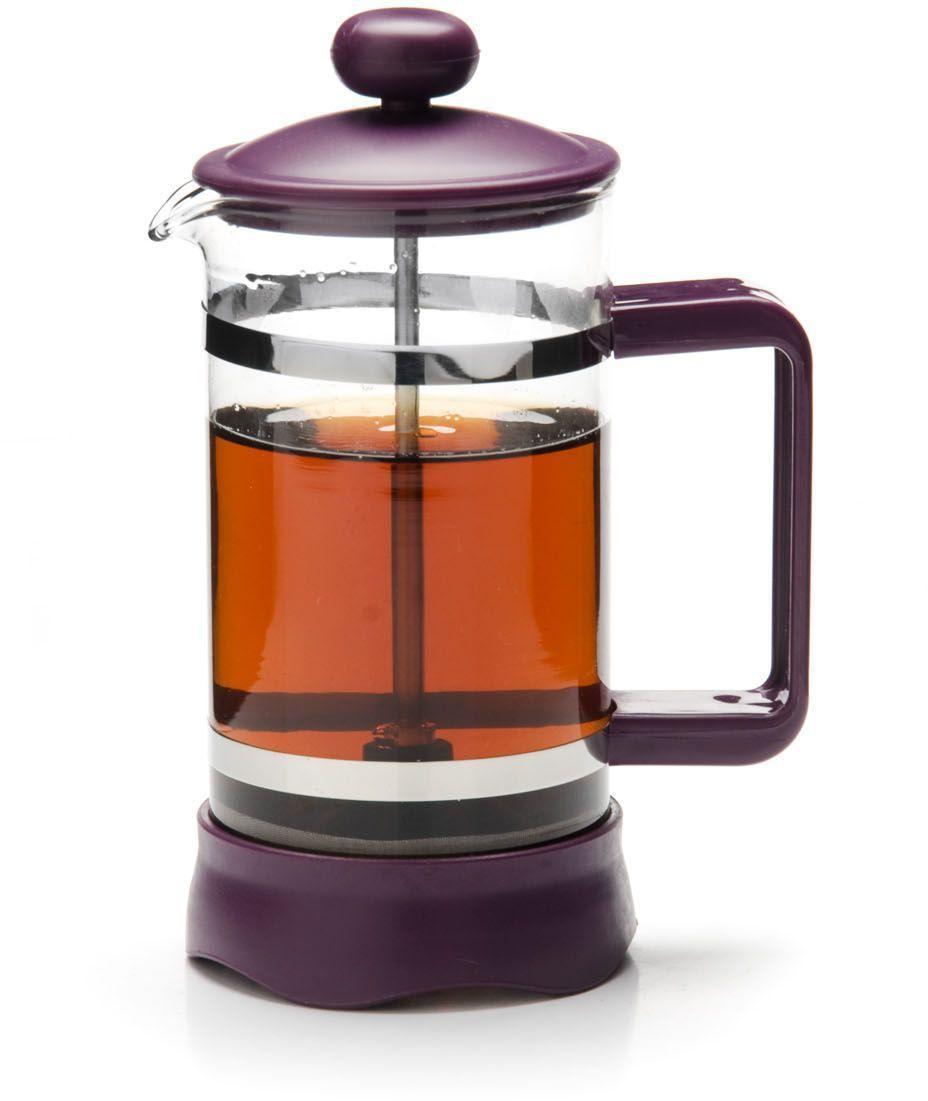 Френч-пресс Mayer&Boch, стекло, цвет: фиолетовый, 850 мл . 26811-1VT-1520(SR)Френч-пресс Mayer&Boch изготовлен из высокотехнологичных материалов на современном оборудовании. Корпус выполнен из высококачественного боросиликатного термостойкого стекла, устойчивого к окрашиванию, царапинам и термошоку. Фильтр-поршень из нержавеющей стали выполнен по технологии press-up для обеспечения равномерной циркуляции воды в чайнике. Практичный и стильный дизайн полностью соответствует последним модным тенденциям в создании предметов бытовой техники. Френч-пресс Mayer&Boch позволит вам быстро и без усилий приготовить свежий ароматный кофе или чай.Подходит для мытья в посудомоечной машине.Не использовать чистящие и дезинфицирующие средства, содержащие хлор.Не подходит для использования на открытом огне.