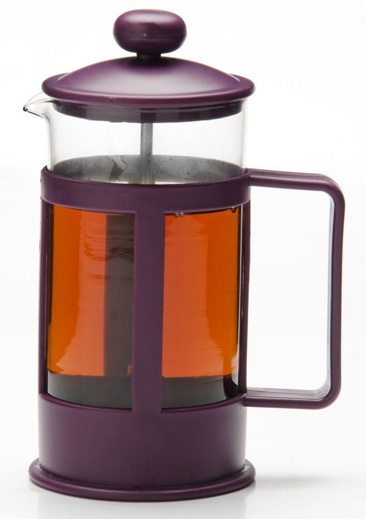 Френч-пресс Mayer&Boch, цвет: фиолетовый, 850 мл. 26814-168/5/4Френч-пресс Mayer&Boch изготовлен из высокотехнологичных материалов на современном оборудовании. Корпус выполнен из высококачественного боросиликатного термостойкого стекла, устойчивого к окрашиванию, царапинам и термошоку. Фильтр-поршень из нержавеющей стали выполнен по технологии press-up для обеспечения равномерной циркуляции воды в чайнике. Практичный и стильный дизайн полностью соответствует последним модным тенденциям в создании предметов бытовой техники. Френч-пресс Mayer&Boch позволит вам быстро и без усилий приготовить свежий ароматный кофе или чай.Подходит для мытья в посудомоечной машине.Не использовать чистящие и дезинфицирующие средства, содержащие хлор.Не подходит для использования на открытом огне.