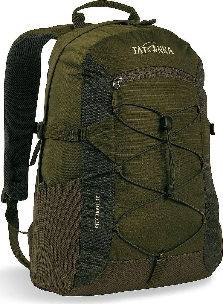 Рюкзак городской Tatonka City Trail, цвет: оливковый, 19 лRivaCase 8460 aquamarineГородской рюкзак Tatonka City Trail 19 идеален для ежедневного использования. Спинка Vent Comfort Back System обеспечит вентиляцию даже в жаркий день. Рюкзак оснащен прилегающим к спине карманом для ноутбука 15,4 дюйма. Карман не доходит до дна рюкзака, таким образом, даже если неаккуратно поставить рюкзак на пол, ноутбук будет в сохранности.Основное отделение закрывается на молнию с двумя бегунками. Эластичная стропа по центру рюкзака позволяет закрепить велошлем или куртку.Размер: 43 x 28 x 14 см.