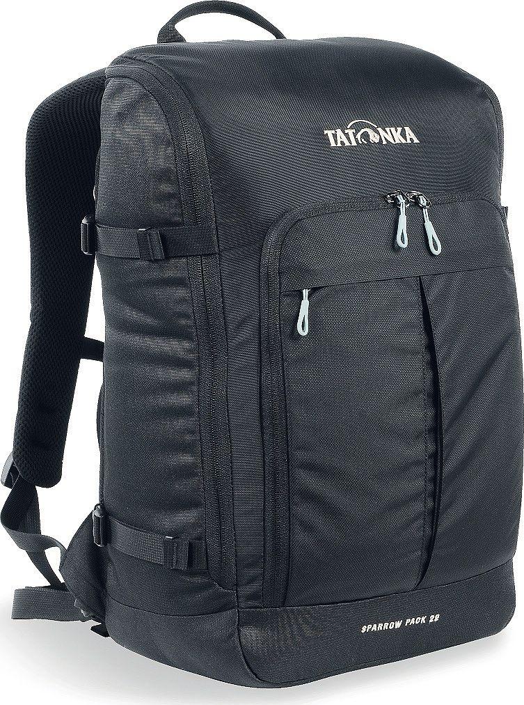 Рюкзак городской Tatonka Sparrow Pack, для учебы и работы, цвет: черный, 22 л95940-905Компактный офисный рюкзак для учебы или работы. Основное отделение открывается полностью благодаря молнии, идущей по периметру рюкзака. Для ноутбука размером до 15,4 дюймов имеется специальное отделение-карман. Рюкзак, также, оснащен передним карманом с удобным органазйером. Рюкзак отлично держит форму, даже если внутри мало вещей. Преимущества и особенности: Спинка Vent ComfortЛямки анатомической формыРегулируемый нагрудный ременьКомпрессионные стропыРучка для переноскиДополнительные карманы в основном отделенииРюкзак открывается полностьюПлотное дноПередний карман с органайзеромКрючок для ключейОтделение для ноутбука 15,4 дюйма