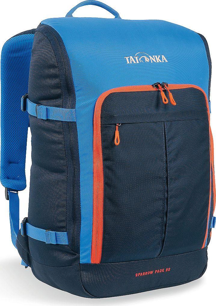 Рюкзак городской Tatonka Sparrow Pack, для учебы и работы, цвет: синий, 22 лГризлиКомпактный офисный рюкзак для учебы или работы. Основное отделение открывается полностью благодаря молнии, идущей по периметру рюкзака. Для ноутбука размером до 15,4 дюймов имеется специальное отделение-карман. Рюкзак, также, оснащен передним карманом с удобным органазйером. Рюкзак отлично держит форму, даже если внутри мало вещей. Преимущества и особенности: Спинка Vent ComfortЛямки анатомической формыРегулируемый нагрудный ременьКомпрессионные стропыРучка для переноскиДополнительные карманы в основном отделенииРюкзак открывается полностьюПлотное дноПередний карман с органайзеромКрючок для ключейОтделение для ноутбука 15,4 дюйма