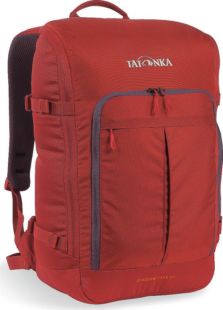 Рюкзак городской Tatonka Sparrow Pack, для учебы и работы, цвет: красный, 22 л95940-905Компактный офисный рюкзак для учебы или работы. Основное отделение открывается полностью благодаря молнии, идущей по периметру рюкзака. Для ноутбука размером до 15,4 дюймов имеется специальное отделение-карман. Рюкзак, также, оснащен передним карманом с удобным органазйером. Рюкзак отлично держит форму, даже если внутри мало вещей. Преимущества и особенности: Спинка Vent ComfortЛямки анатомической формыРегулируемый нагрудный ременьКомпрессионные стропыРучка для переноскиДополнительные карманы в основном отделенииРюкзак открывается полностьюПлотное дноПередний карман с органайзеромКрючок для ключейОтделение для ноутбука 15,4 дюйма