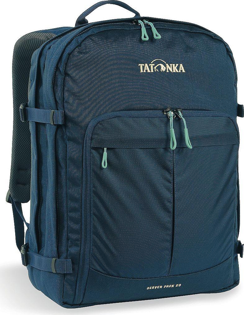 Рюкзак городской Tatonka Server Pack, для учебы и работы, цвет: темно-синий, 29 л1630.004Городской рюкзак Tatonka Server Pack - это вместительный рюкзак для офиса или учебы с большими возможностями аккуратного хранения вещей. В двух основных отделениях легко размещаются папки и документы A4 и ноутбук 17 дюймов (для него предусмотрен свой карман). В переднем кармане находится практичный органайзер с мягким отделением для смартфона. Удобная система переноски и мягкие плечевые лямки гарантируют максимальный комфорт. Преимущества и особенности:- Спинка Vent Comfort;- Регулируемый нагрудный ремень;- Съемный поясной ремень;- Компрессионные стропы по бокам;- Ручка для переноски;- Уплотненное дно;- Передний карман с органайзером и отделением для смартфона;- Вшитое отделение для ноутбука (не касается дна);- Крючок для ключей;Размер: 44 x 33 x 17 см.