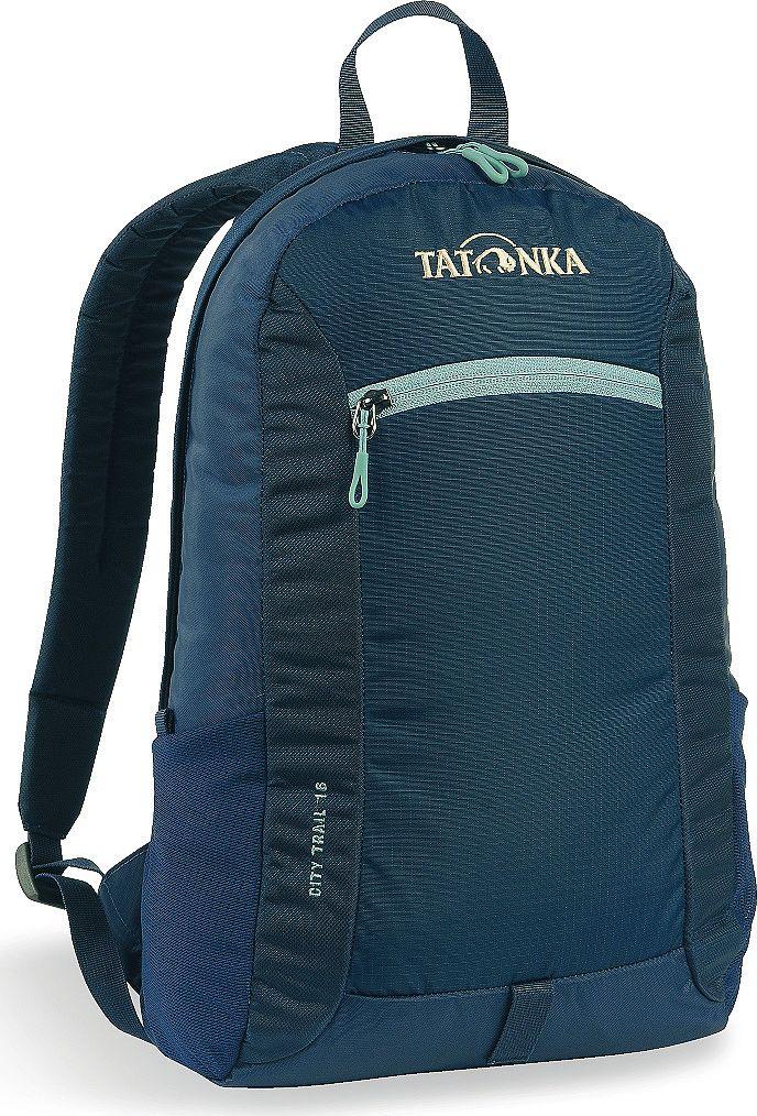 Рюкзак городской Tatonka City Trail 16, цвет: темно-синий, 16 л1632.004Tatonka City Trail - аккуратный и удобный рюкзак для города, оснащен боковыми сетчатыми карманами и центральным карманом на молнии, петлей для крепления фонаря, держателем для ключей. Для удобства переноски он имеет удобную ручку и анатомические мягкие лямки, которые можно отрегулировать по длине.Рюкзак выполнен из полиэстера и нейлона.Размер: 42 x 24 x 12 см.