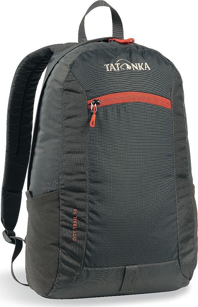 Рюкзак городской Tatonka City Trail 16, цвет: темно-серый, 16 л1632.021Tatonka City Trail - аккуратный и удобный рюкзак для города, оснащен боковыми сетчатыми карманами и центральным карманом на молнии, петлей для крепления фонаря, держателем для ключей. Для удобства переноски он имеет удобную ручку и анатомические мягкие лямки, которые можно отрегулировать по длине.Рюкзак выполнен из полиэстера и нейлона.Размер: 42 x 24 x 12 см.
