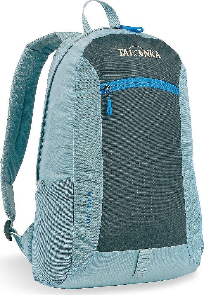 Рюкзак городской Tatonka City Trail 16, цвет: голубой, 16 л1632.142Tatonka City Trail - аккуратный и удобный рюкзак для города, оснащен боковыми сетчатыми карманами и центральным карманом на молнии, петлей для крепления фонаря, держателем для ключей. Для удобства переноски он имеет удобную ручку и анатомические мягкие лямки, которые можно отрегулировать по длине.Рюкзак выполнен из полиэстера и нейлона.Размер: 42 x 24 x 12 см.