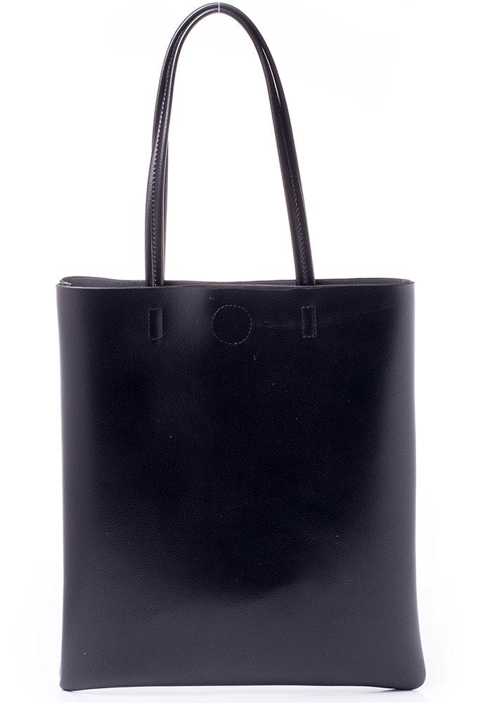 Сумка женская Baggini, цвет: черный. 27001/10BM8434-58AEЖенская сумка Baggini выполнена из искусственной кожи. Модель с одним отделением застегивается на металлическую кнопку. Внутри имеется карман на молнии. Сумка оснащена удобными ручками.