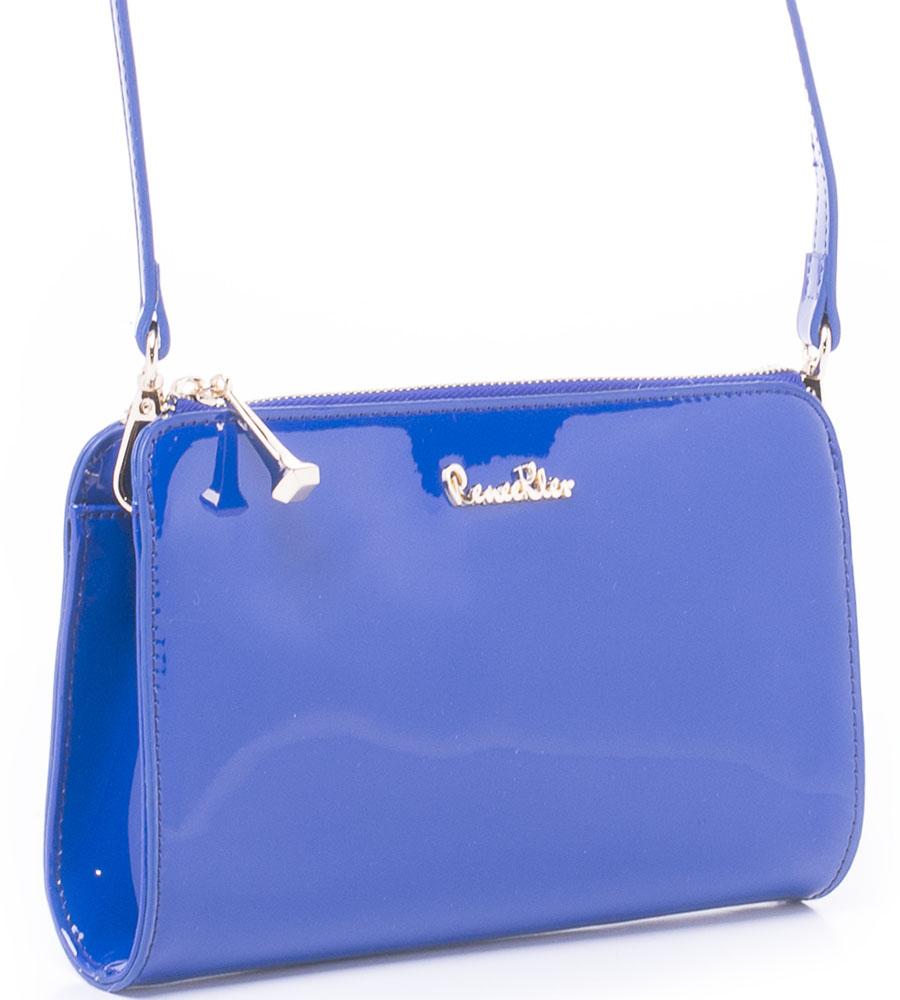 Сумка женская Renee Kler, цвет: синий. RP7001-06BM8434-58AEСумка Renee Kler выполнена из искусственной лаковой кожи. Изделие застегивается на молнию. Снаружи на задней стороне сумки имеется прорезной карман на молнии. Внутри расположены карманы для мелочей и мобильного телефона. Сумка имеет съемный наплечный ремень регулируемой длины.