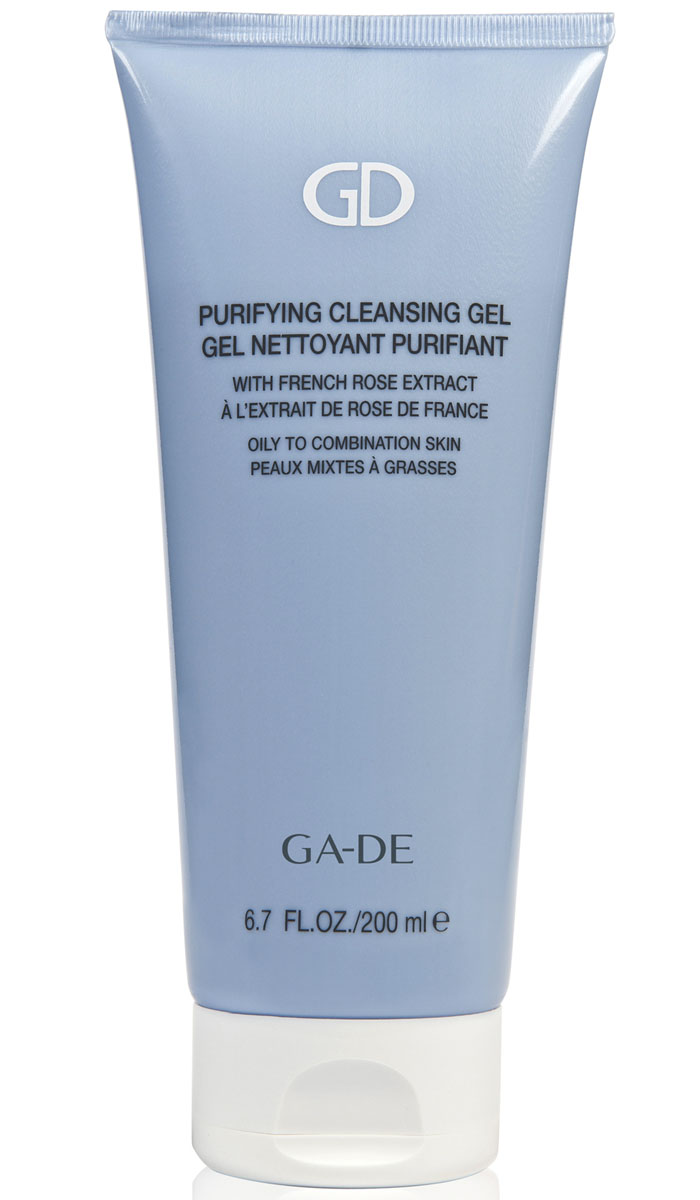 GA-DE Гель для умывания Purifying Cleansing Gel(для жирной и комбинированной кожи), 200 мл72523WDМягкий гель на растительных экстрактах нежно снимает макияж, очищает и эффективно восстанавливает гидролипидную мантию кожи, нормализует водно-солевой баланс и прекрасно увлажняет кожу.
