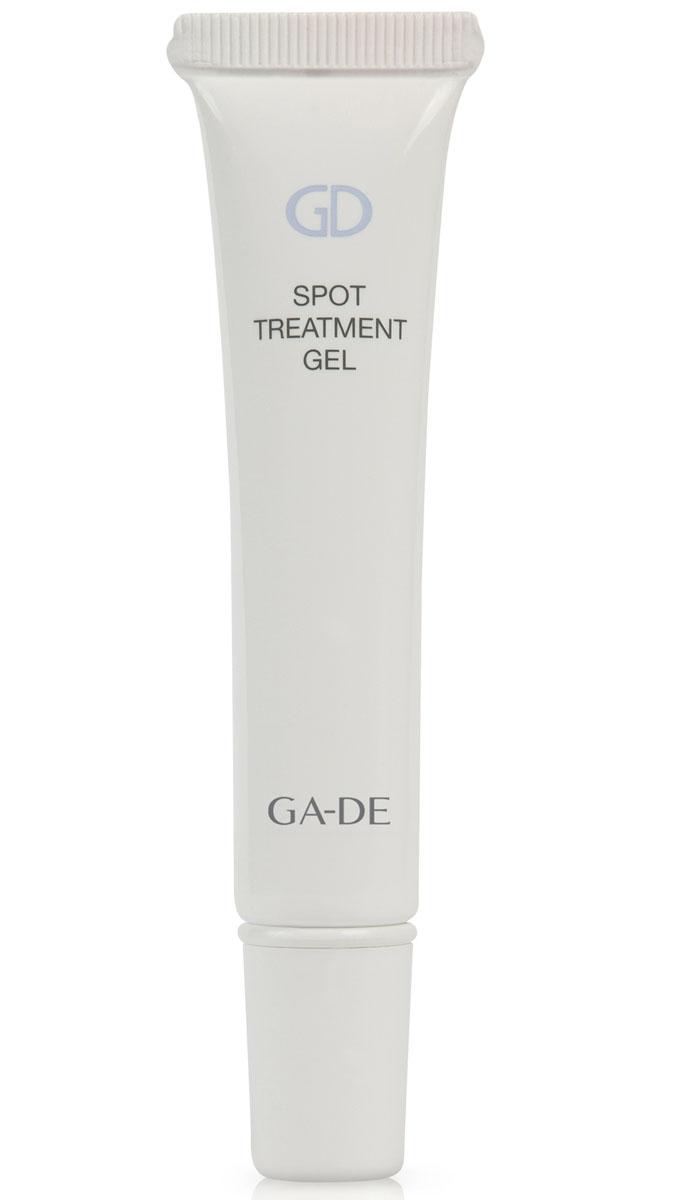 GA-DE Гель локального действия для проблемной кожи Spot Treatment Gel, 15 млFS-00103Прозрачный гель предназначен для проблемной кожи с очагами воспалений. Оказывает успокаивающее действие на воспаленную кожу, уменьшает покраснение и отёк, стимулирует внутриклеточную выработку антимикробных пептидов, нормализует липидный баланс, предотвращает появление акне в будущем.