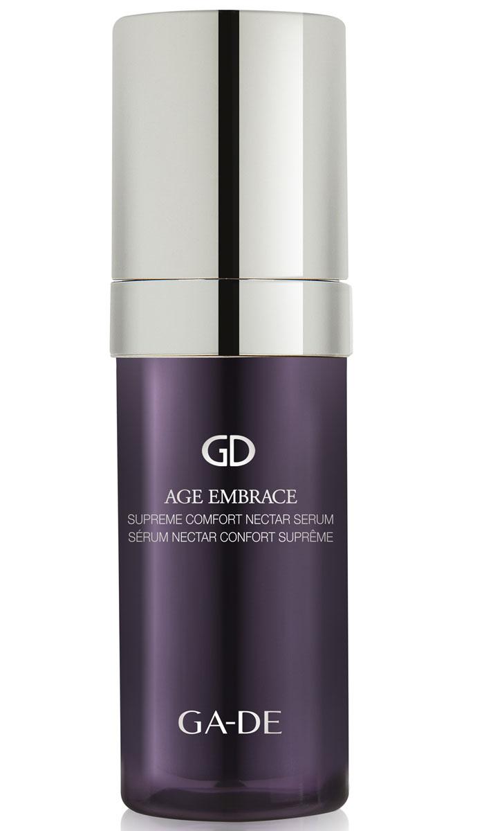GA-DE Сыворотка для лица Age Embrace, 30 мл146200000Шелковая сыворотка работает с базальным слоем эпидермиса, улучшает действие крема, стимулирует быстрое обновление клеток, поддерживает основные жизненные функции клетки, увеличивает содержание воды в коже, обеспечивает интенсивное увлажнение, укрепляет контуры лица, эффективно борется с дряблостью. Botanical Mature Skin Treatment- богат экстрактом красного клевера, предупреждающий появление признаков старения кожи. Благодаря своему свойству стимулировать клеточный метаболизм и синтез протеина, он заметно укрепляет кожу и способствует восстановлению внеклеточного матрикса.