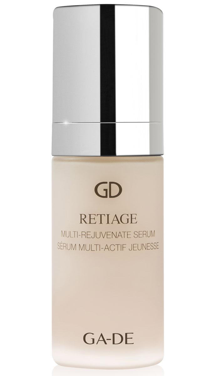 GA-DE Сыворотка для лица Retiage Multi-Rejuvenate, 30 мл8809344970374Концентрированное средство и питательные свойства крема серии RETIAGE помогают значительно уменьшить внешние признаки старения кожи. Сыворотка включает в свой состав активные компоненты, которые дают клеткам кожи усилить их природные функции - сопротивления возрастным изменениям. Способствуют мощной регенерации и реструктуризации кожи, улучшают рельеф кожи, стимулируют синтез коллагена, повышают упругость кожи.