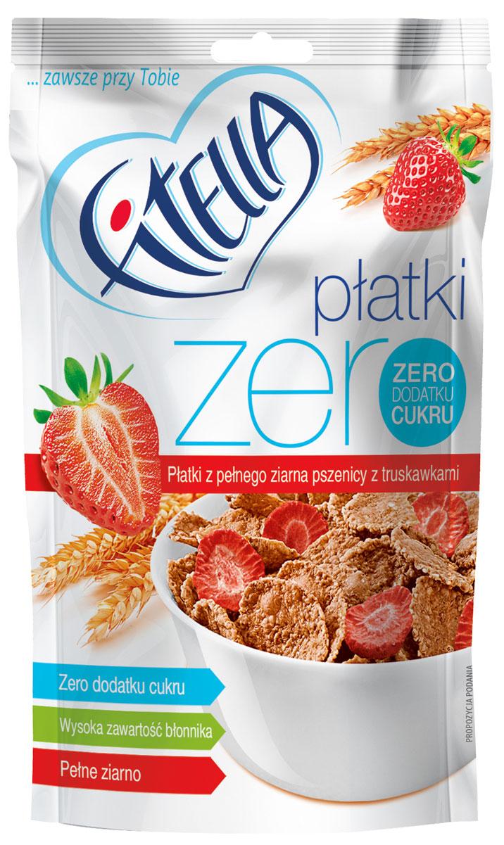 Fitella Zero хлопья пшеничные цельнозерновые с клубникой, 225 г0120710Fitella - это европейский бренд на рынке сухих завтраков, который уже завоевал доверие и популярность среди потребителей Европы. Хлопья из цельного зерна без сахара. Абсолютно натуральный состав: Пшеница цельнозерновая - это клетчатка, пищевые волокна, ненасыщенные и полиненасыщенные жиры, заменимые и незаменимые аминокислоты. Отруби пшеничные – большое количество клетчатки, натуральный сорбент, очищение организма. Эмульгатор: моно- и диглицериды жирных кислот.Несмотря на свое сложное название, добавка имеет натуральное происхождение. Лиофилизированная клубника - при лиофилизации максимально сохраняются все витамины свежих фруктов.