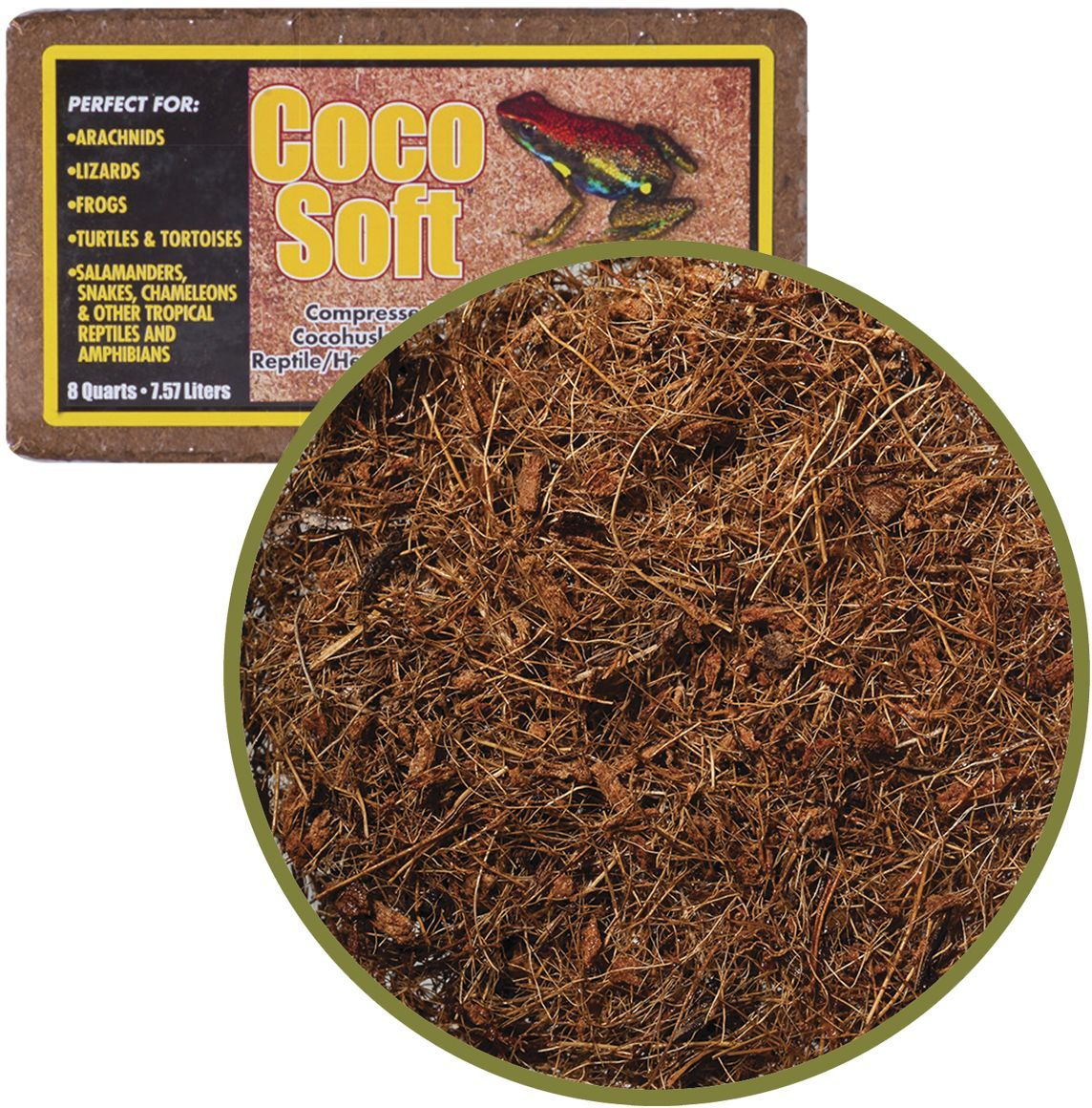 Субстрат для террариумов Caribsea Coco Soft, кокосовые волокна, 7,57 л