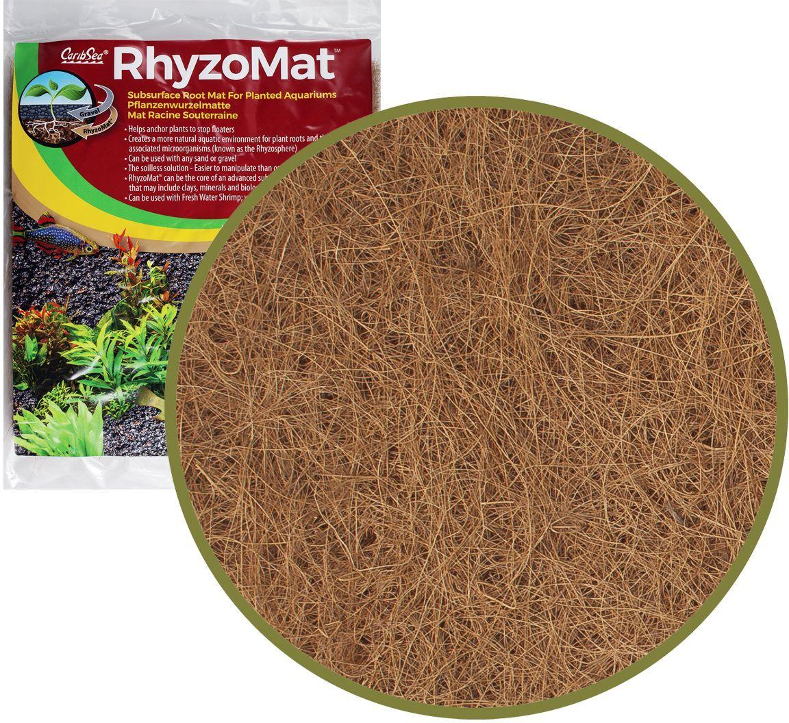 Мат подгрунтовый корневой Caribsea, 30 x 60 смSJ500IНатуральный волокнистый мат Caribsea помогает растениям закрепить корни и создать естественную водную среду для корней и связанных с ними микроорганизмов. Может использоваться с любым песком или гравием. Не повышает pH. Может быть разрезан или разорван на нужные размеры.