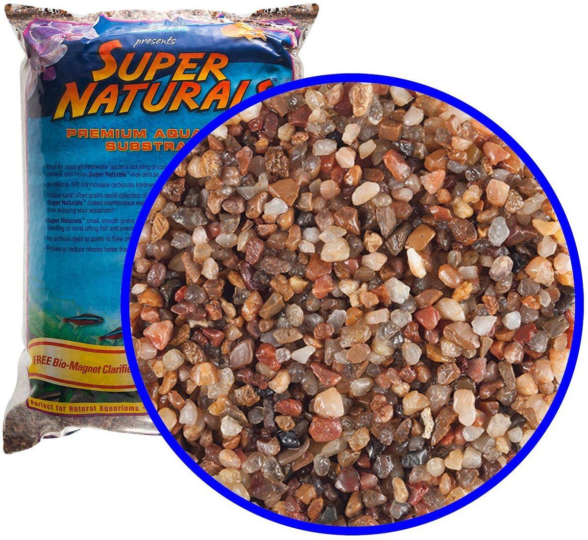 Аквагрунт пресноводный Caribsea Pease River, цвет: мульти, 1-2 мм, 9 кг12171996Пресноводный аквагрунт Caribsea Pease River - это грунт премиум-класса с гладкими гранулами, безопасными для рыб и не препятствующими сбору отходов. Представляет собой цветной кристаллический песок. Имеет нейтральный уровень pH, не увеличивает карбонатную жесткость. Размер 1-2 мм.