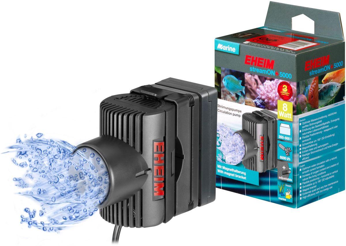 Помпа перемешивающая Eheim Stream-On+ 500012171996Помпа Eheim Stream-On+ 5000 представляет собой высокоэффективный лопастный насос для оптимальной циркуляции пресной или морской воды в аквариумах. Практичная конструкция позволяет не только выполнять настройку 3D-элементов, но и быстро, легко крепить насос в любом нужном месте аквариума. Апробированное качество гарантирует высокую надежность при незначительной потребности в техобслуживании и низкомэнергопотреблении. Лопастные насосы регулируются механически и позволяют выполнять плавную настройку потока с учетом потребностей животных, находящихся в аквариуме.Использование насоса для течения в пресноводном аквариуме позволяет значительно улучшить окружающую среду за счет лучшего снабжения кислородом.Преимущества Eheim Stream-On+ 5000: - Подходит как для морской, так и для пресной воды.- Оптимальная циркуляция воды с естественным, плавным формированием тока.- Увеличение содержания кислорода в воде.- Имеет важное значение для кораллов в морской воде и полезно для рыб в пресной воде.- Гибкое позиционирование - горизонтальное или вертикальное.- Возможность поворота до 180 ° (с возможностью 3D).- Крепление присосками. - Тихий в работе.Мощность насоса в час при 50 Гц: до 5000 л. Объем аквариума: 350 - 500 л. Мощность от 50 Гц: до 10 Вт. Ширина: 61 мм. Высота: 90 мм. Глубина: 85 мм. Напряжение: 230 вольт. Частота: 50 Гц. Длина кабеля: 210 см.